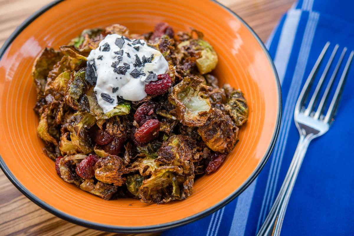 FRIED BRUSSELS SPROUTS