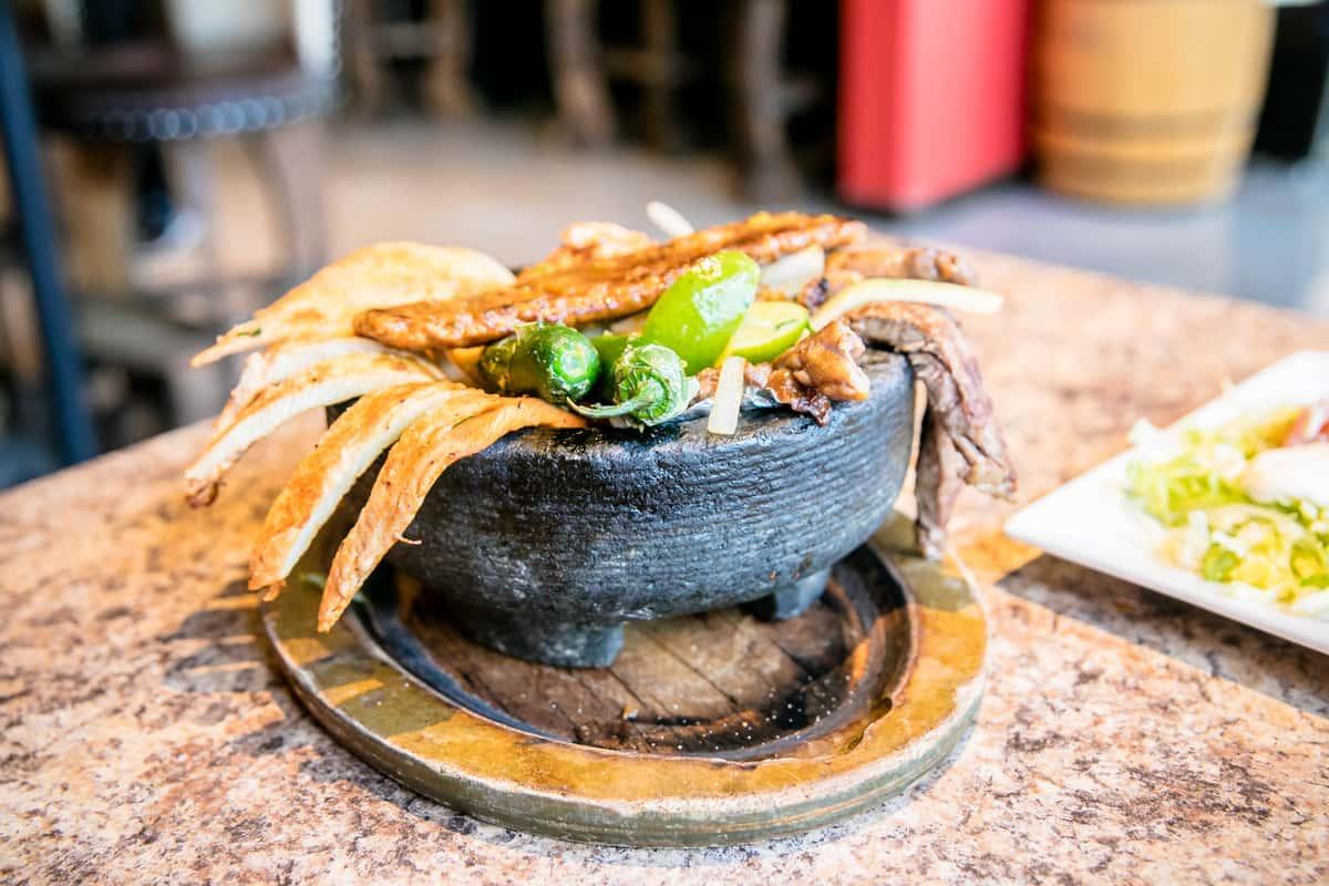 mexican dish closeup