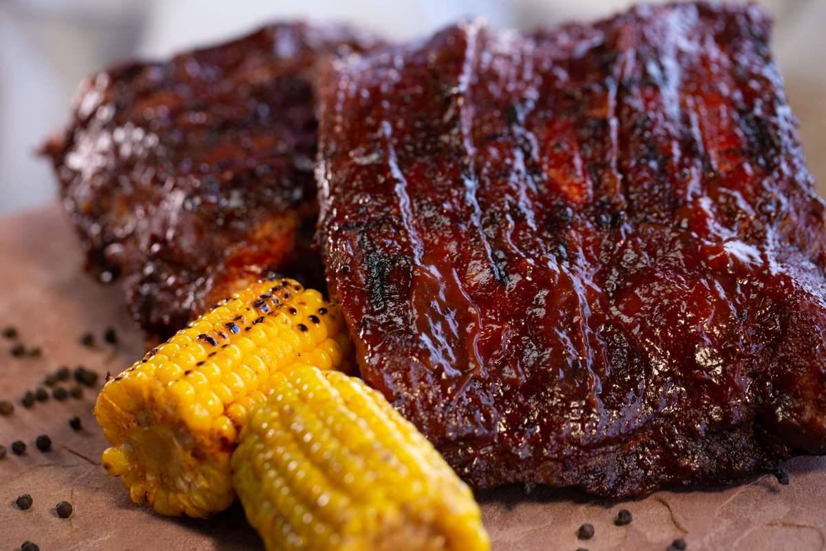 ribs and corn