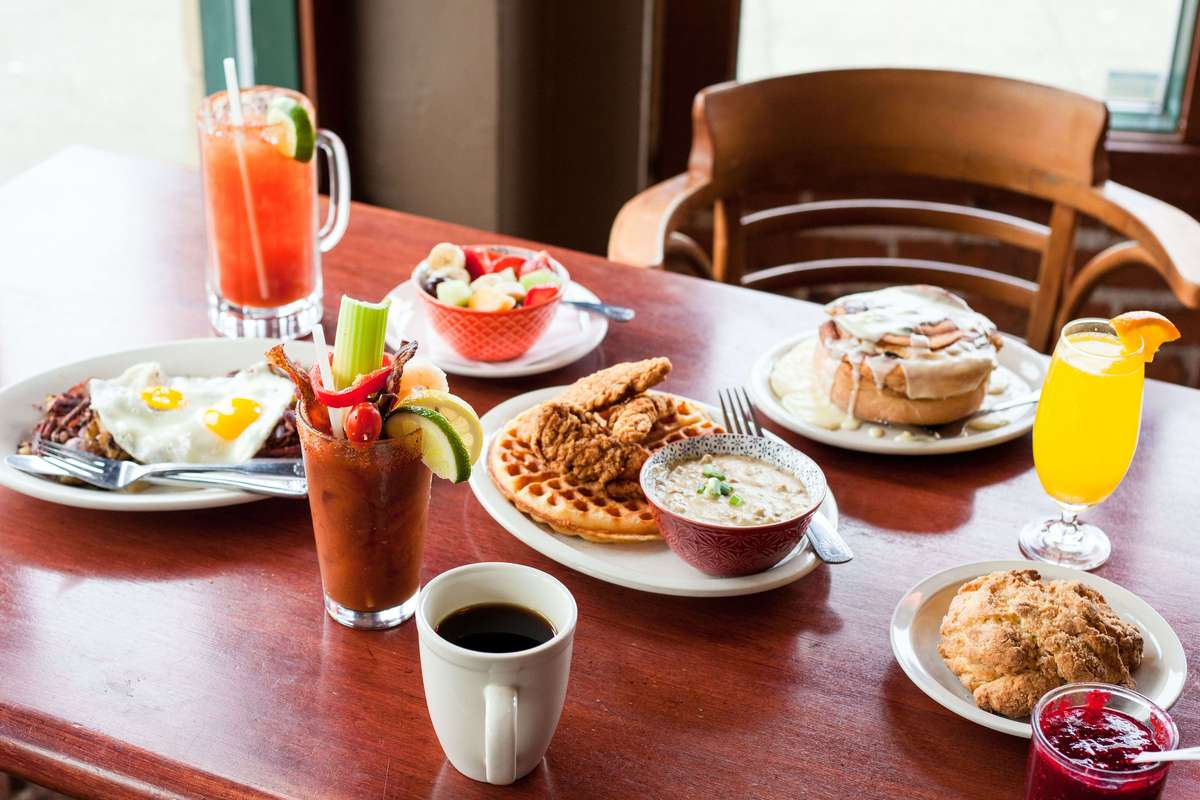 brunch foods on the table