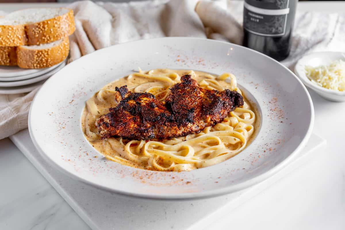 Fettuccine Con Pollo Di Nero
