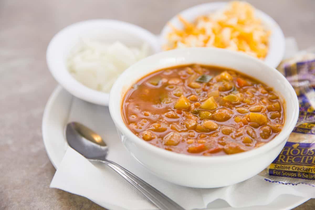 Bowl of Vegetarian Chili