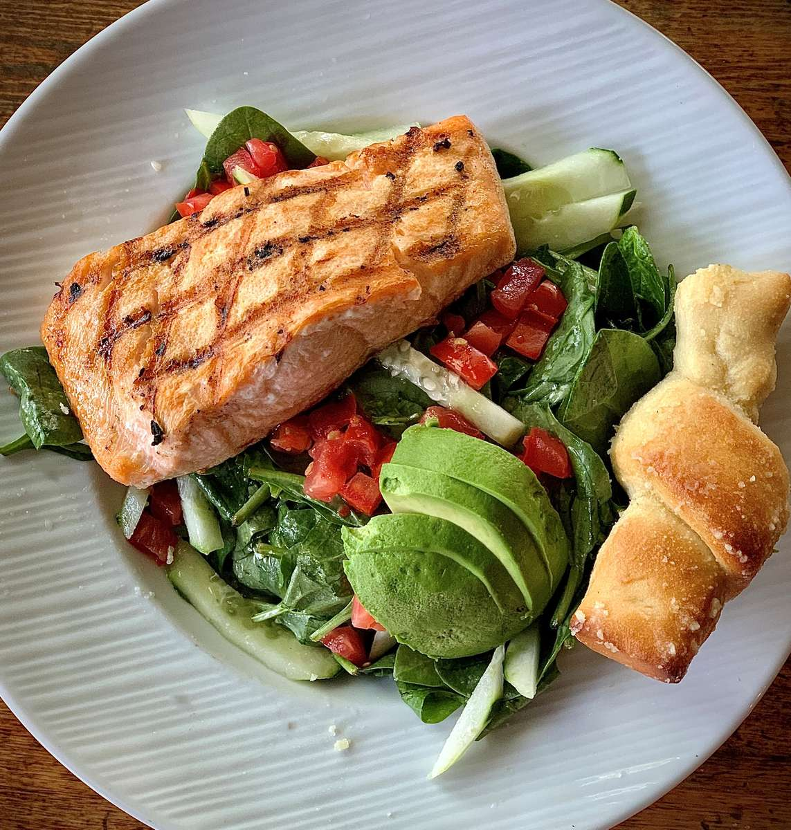 Flame-grilled Atlantic Salmon
