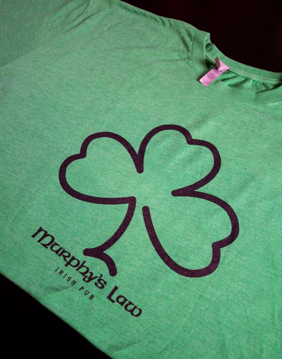 Men's Green Shamrock Basic T-Shirt