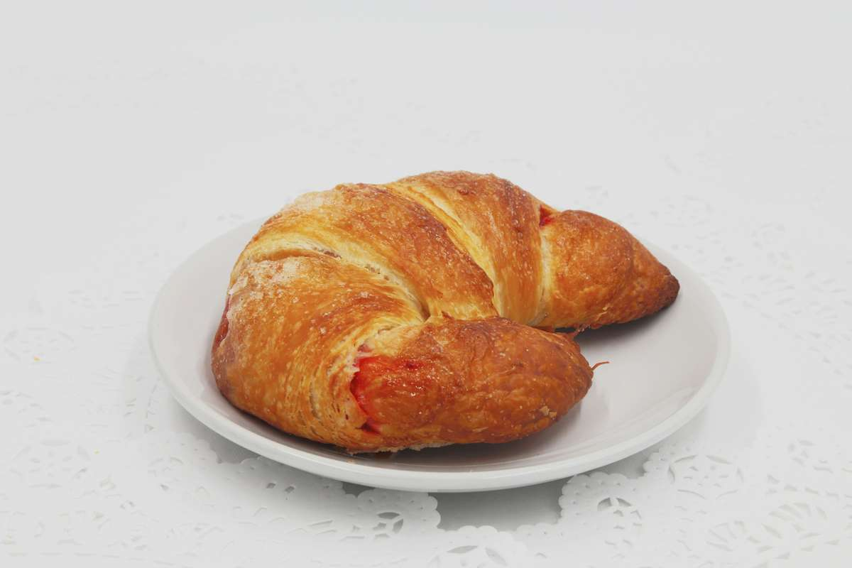 Stuffed Raspberry Cream Cheese Croissant