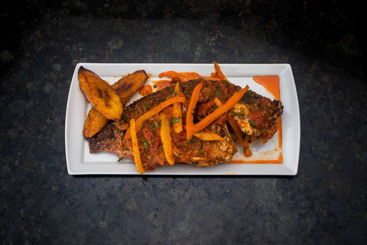 plantains and fish