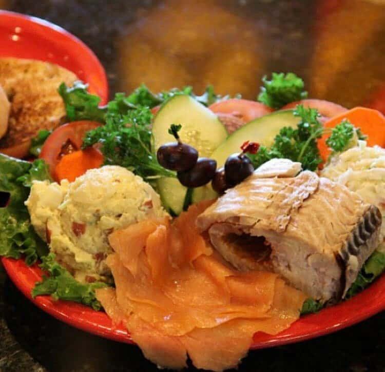 Lox and whitefish platter