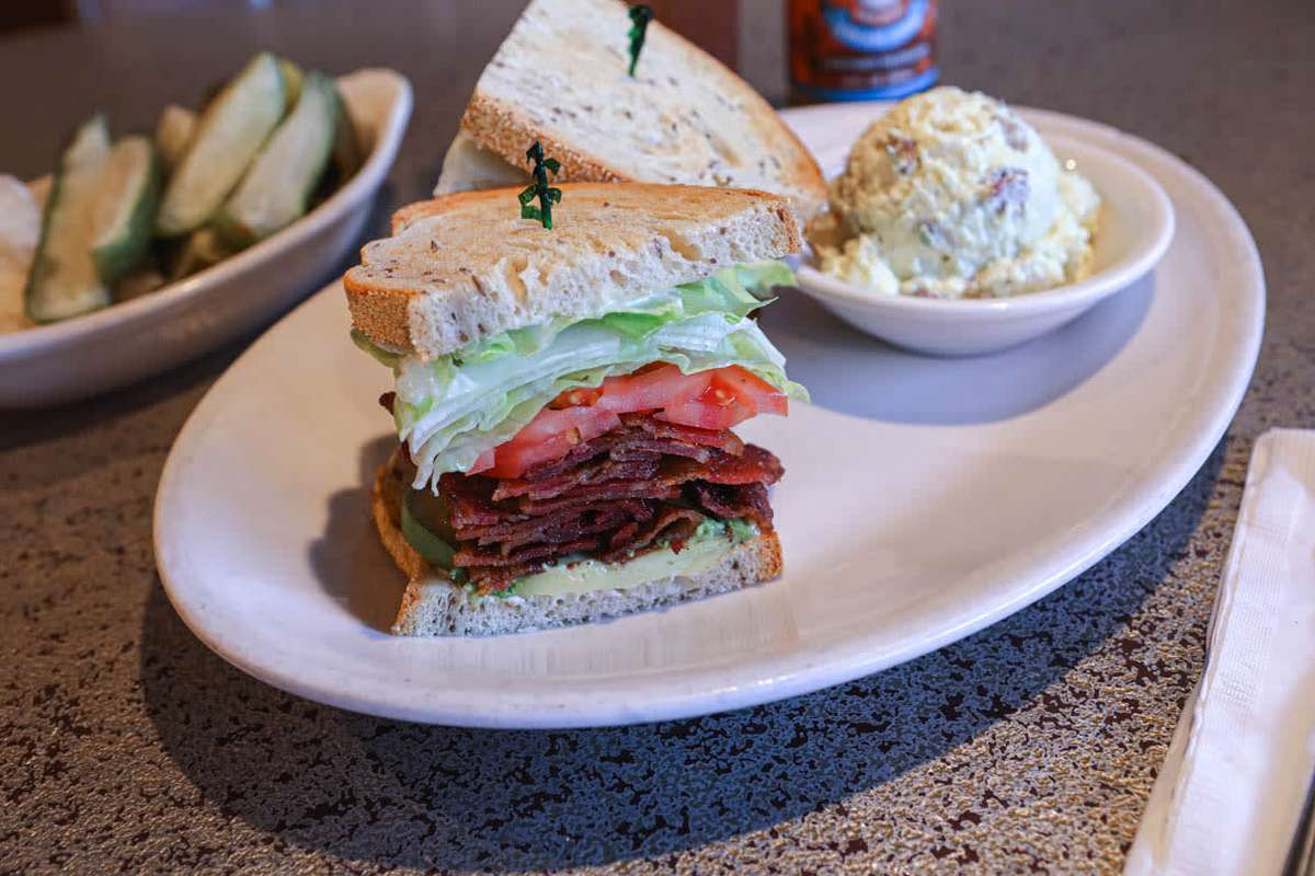67. Bacon, lettuce, and tomato (blt) On rye