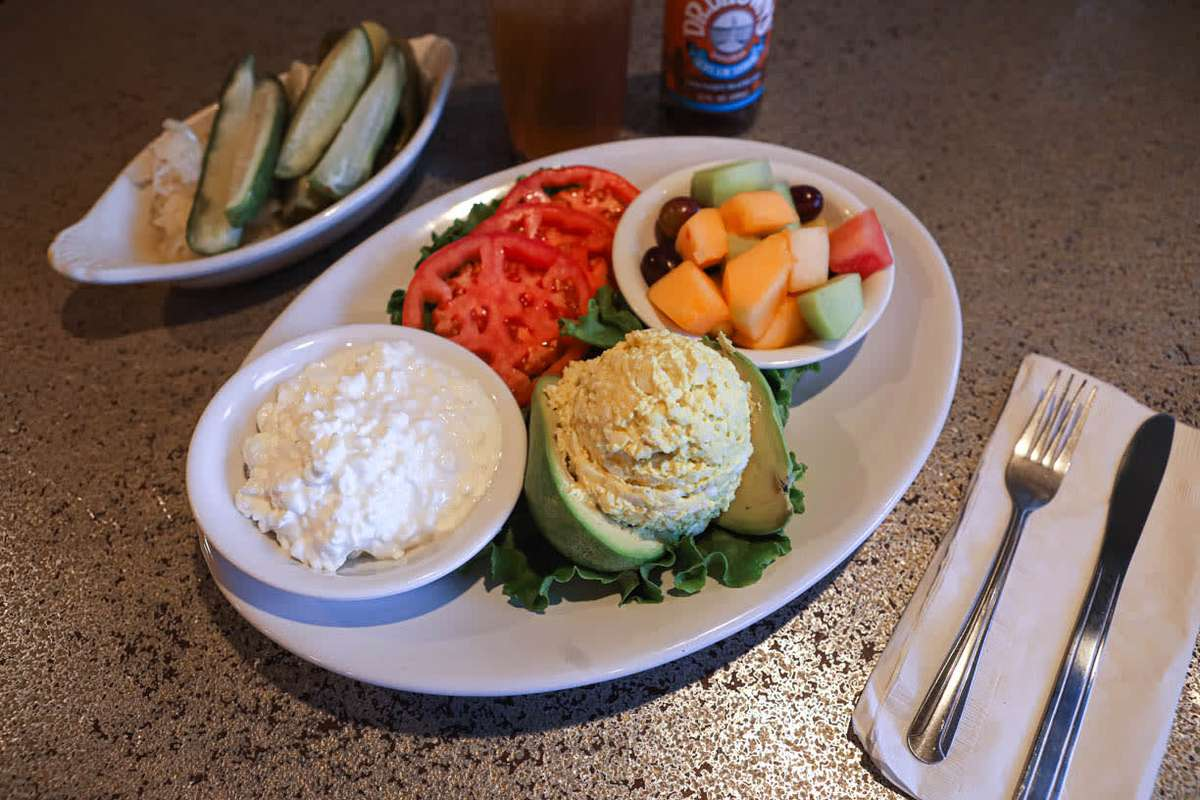 Stuffed Tomato or avocado and cottage cheese