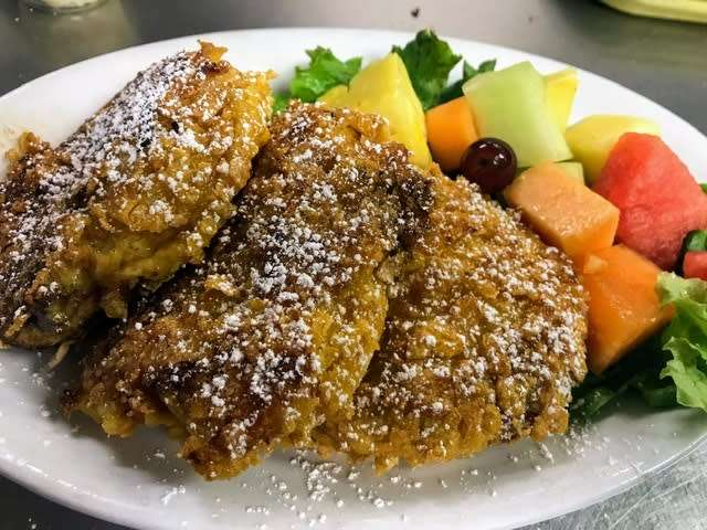 Crunchy silver dollar french toast