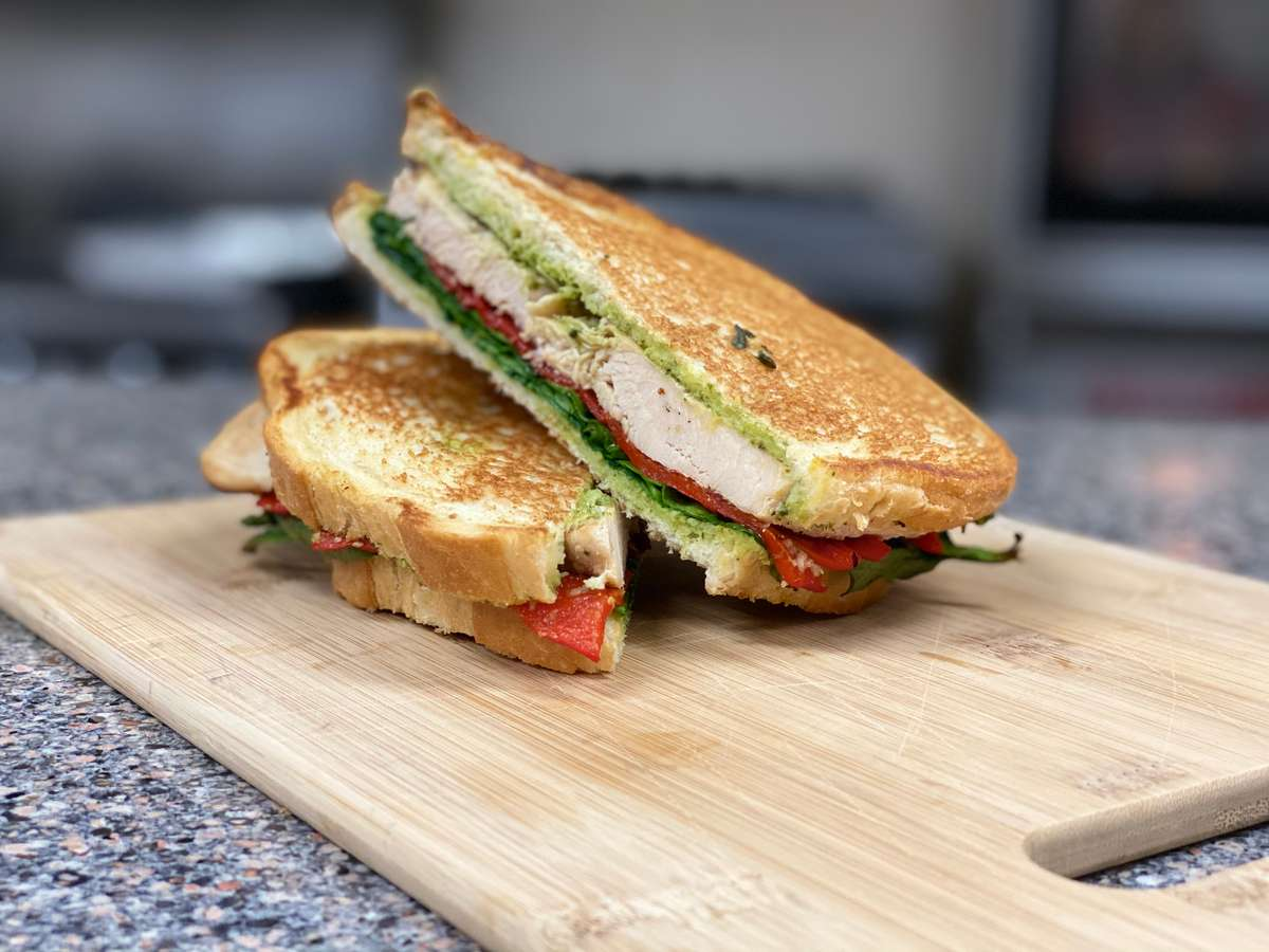 CHICKEN PESTO SANDWICH, COMING SOON.