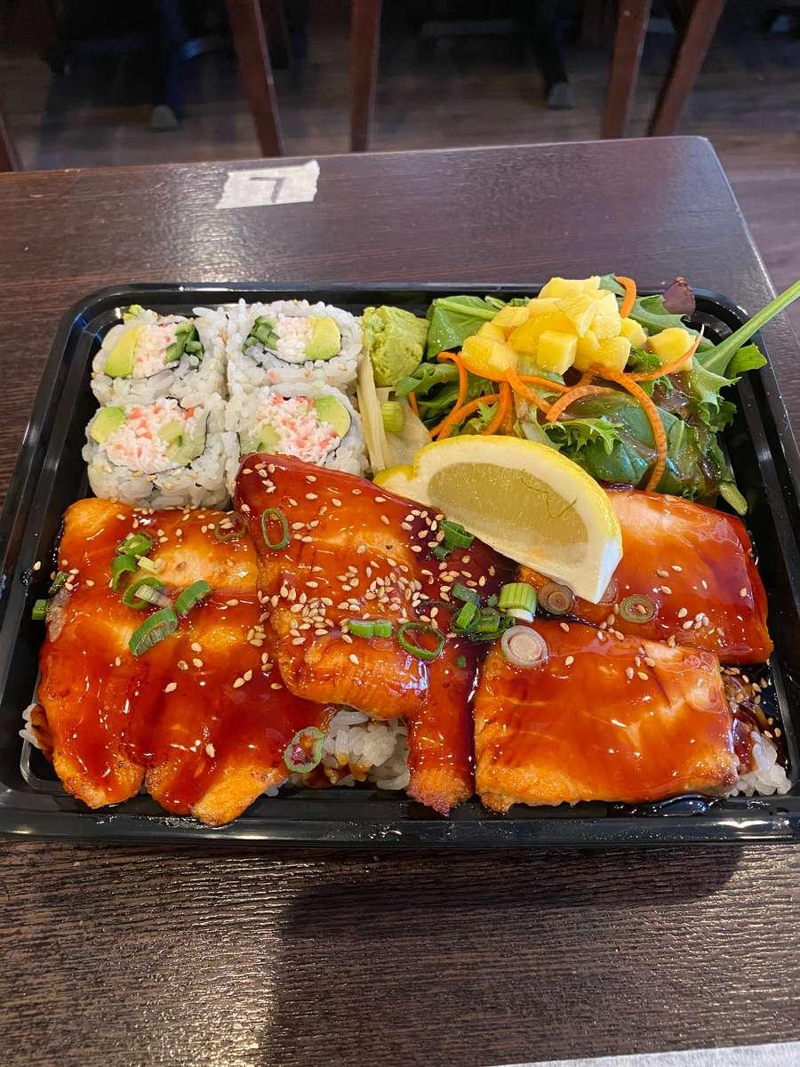 Teriyaki Salmon & Sushi Bento