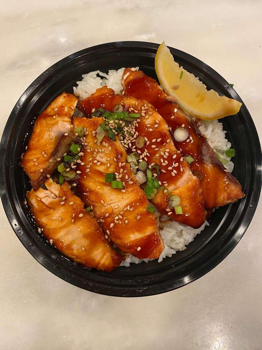 Salmon Teriyaki Rice