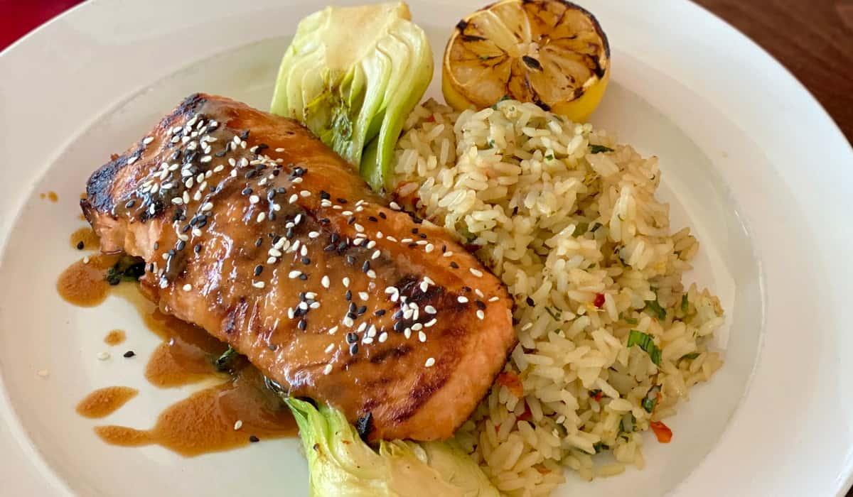 Miso Basted Salmon (520 Calories)