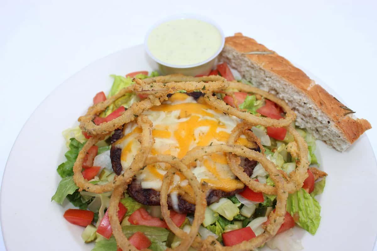 Cheeseburger in Paradise Salad