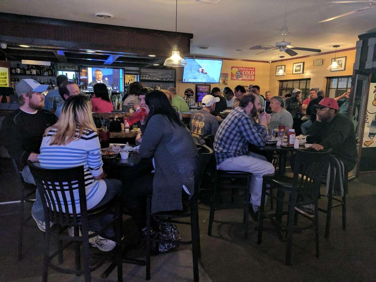 people dining inside