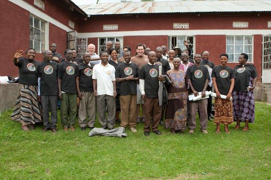 Group photo of coffee farmers