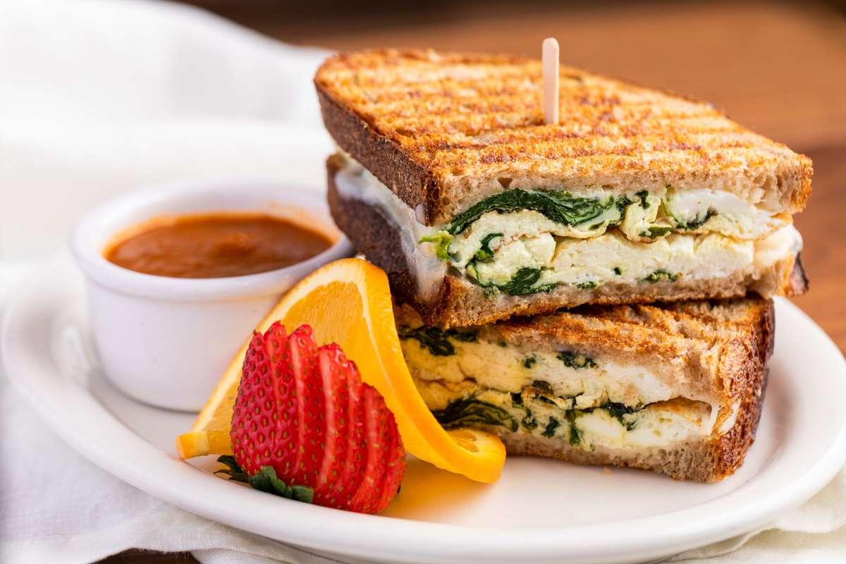 Egg White & Spinach Breakfast Panini