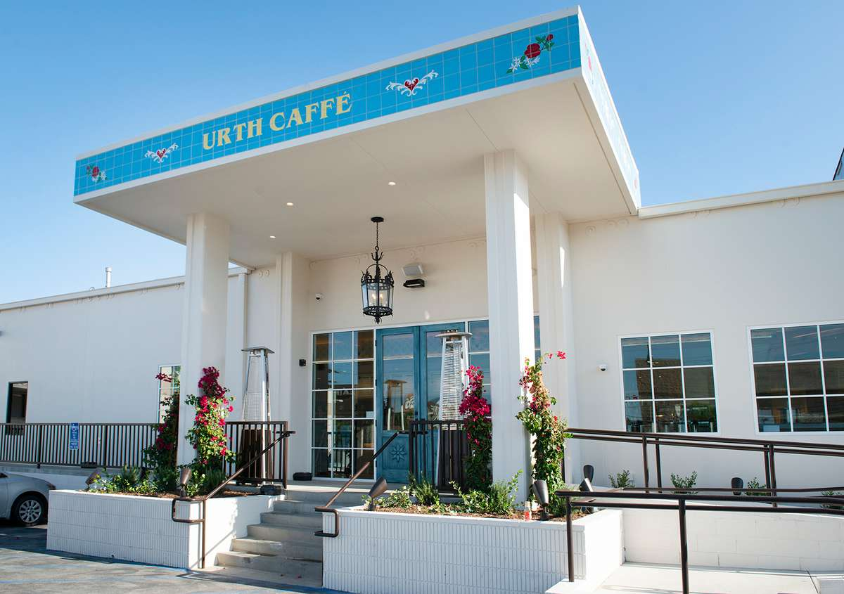 Front door and porch of Urth Caffe South Bay