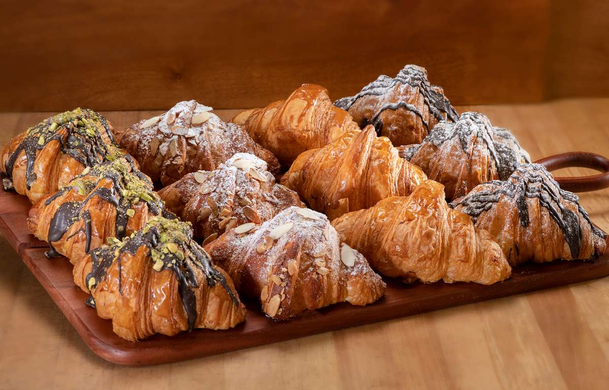 Platter of a 4 different kinds of croissants