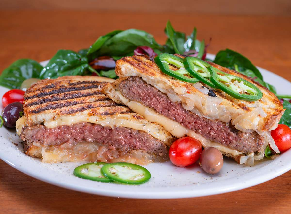 Vegan Patty Melt Panini