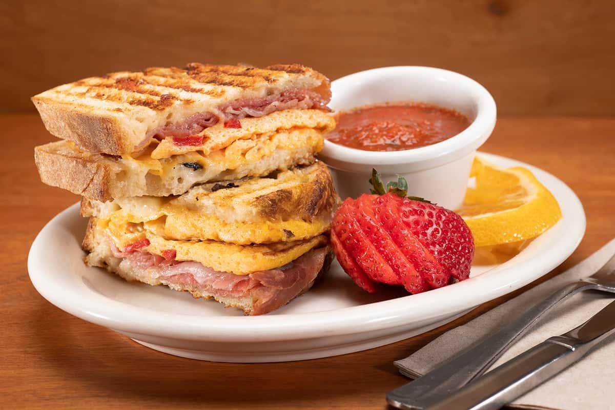 Prosciutto & Cheese Breakfast Panini