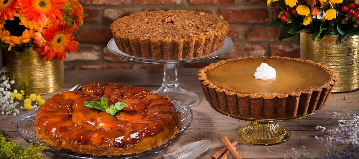 Urth Pumpkin, Sweet Potato and Apple Tartin Thanksgiving pies