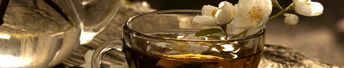 tea with flower