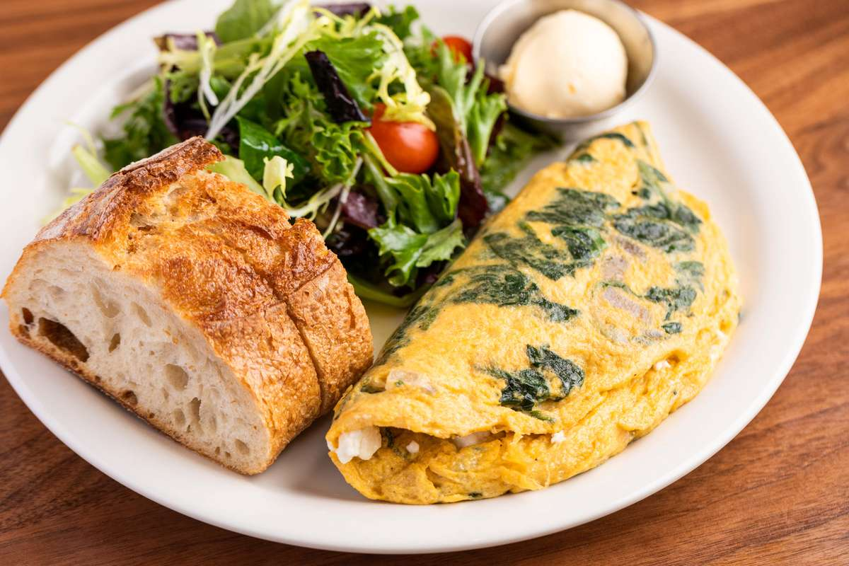 The Spinach & Feta Omelet