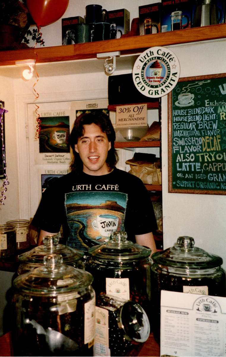 Shallom Berkman is shown standing behind counter