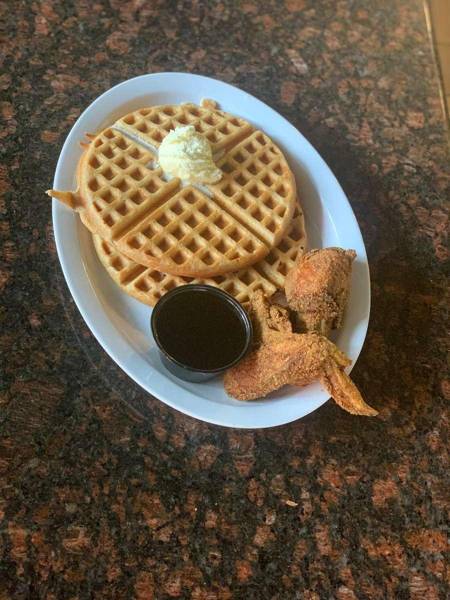 1 Waffle & 2 piece Chicken