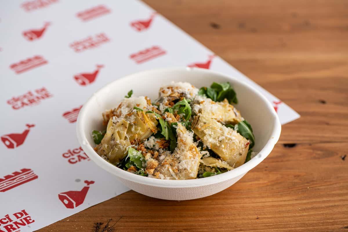 Grilled Artichoke and Arugula Salad