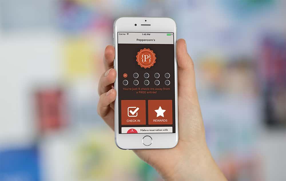 peppercorns app in hand
