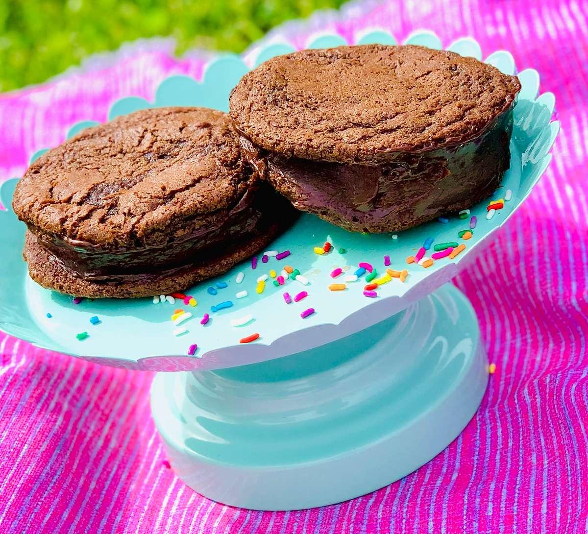 Chocolate Malt Sandwich Cookie