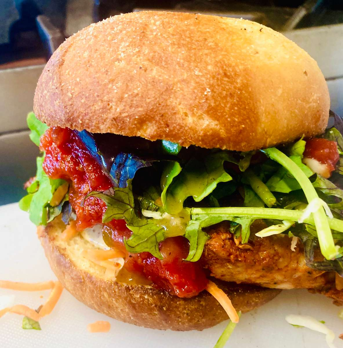 Blackened Red Fish Sandwich