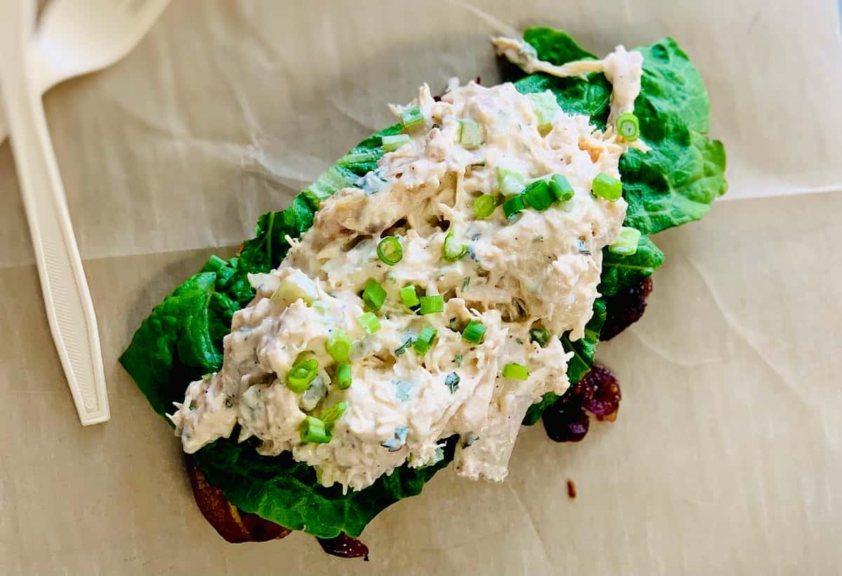 Smoked Chicken Salad Tartine