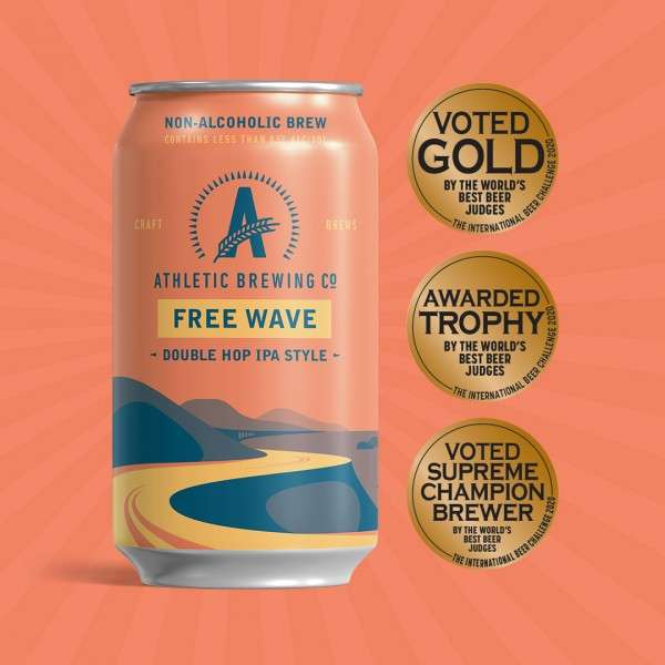 Non-Alcoholic: Athletic Brewing Free Wave