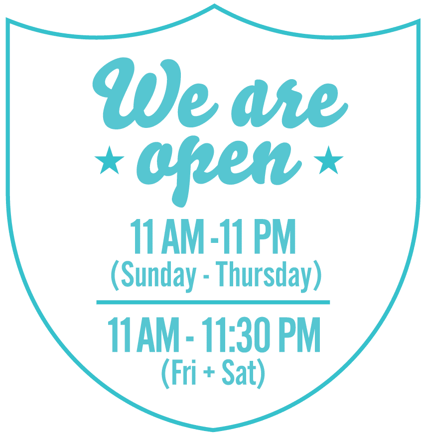 we are open 11 am to 10 pm