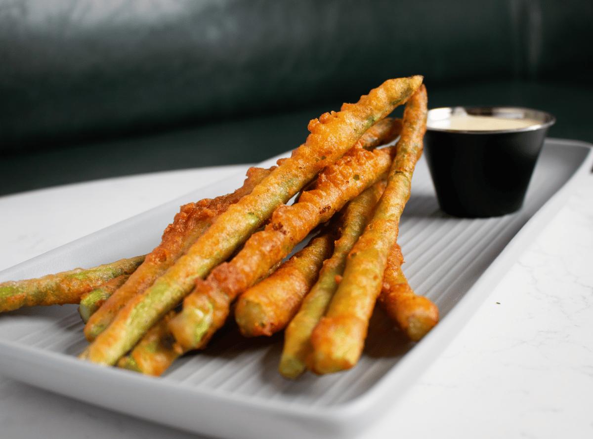 Beer Battered Fried Asparagus