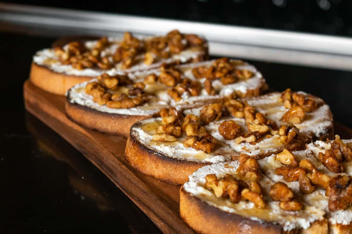 Ricotta, Candied Walnuts, Honey