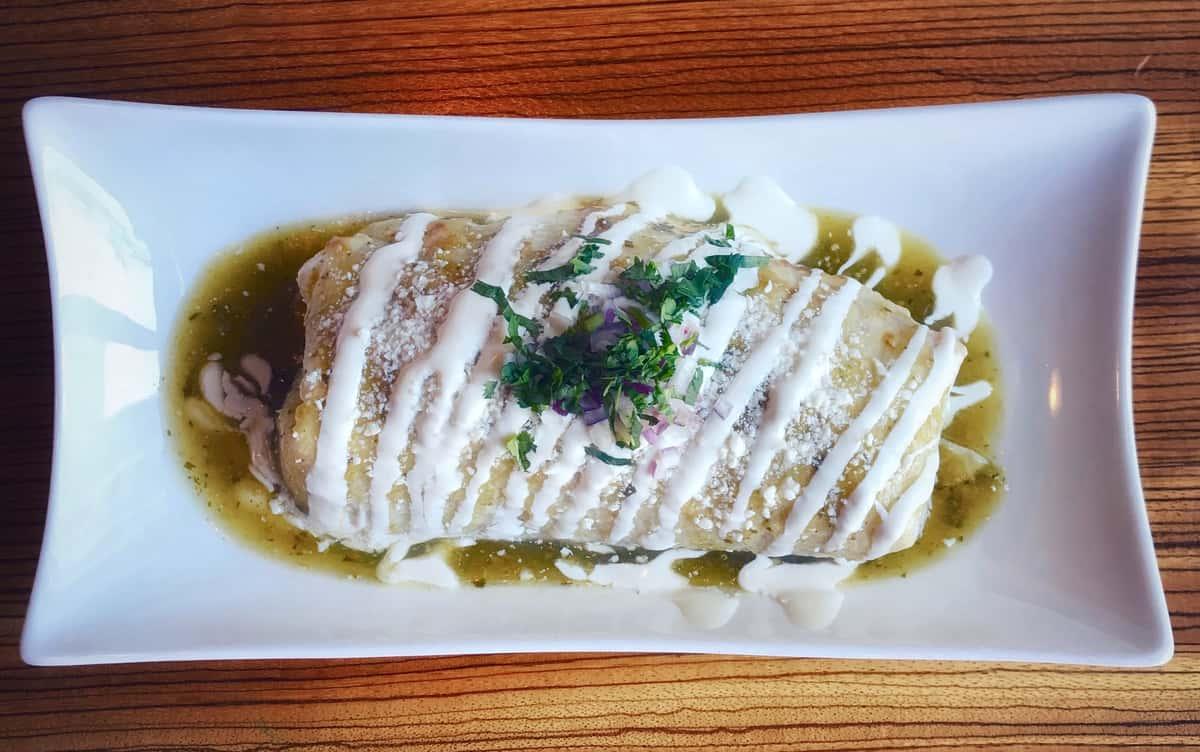Green Wet Burrito