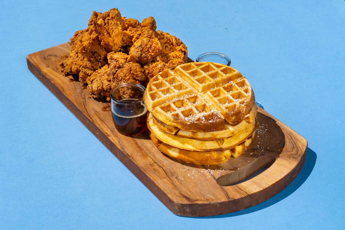 Chicken & Waffles Platter