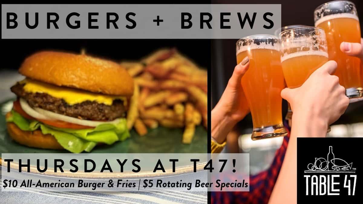 Burgers & Brews Thursdays