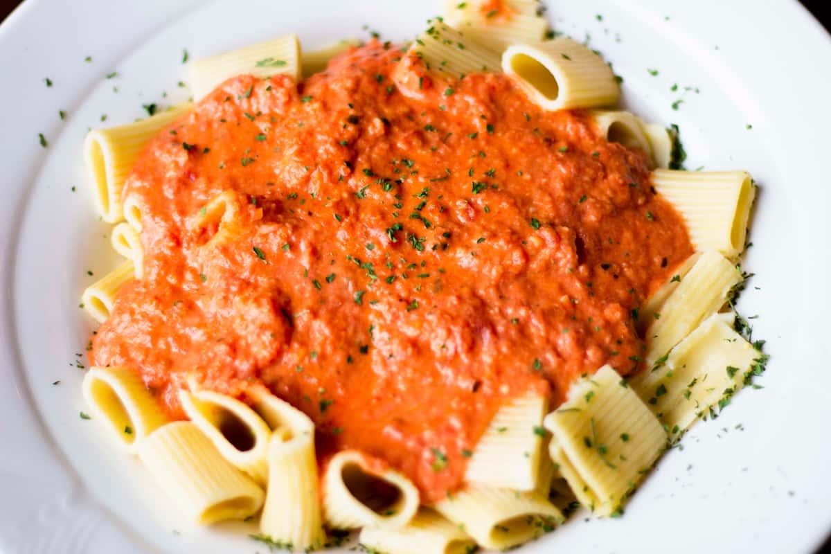 Linguini Marinara with Meatballs