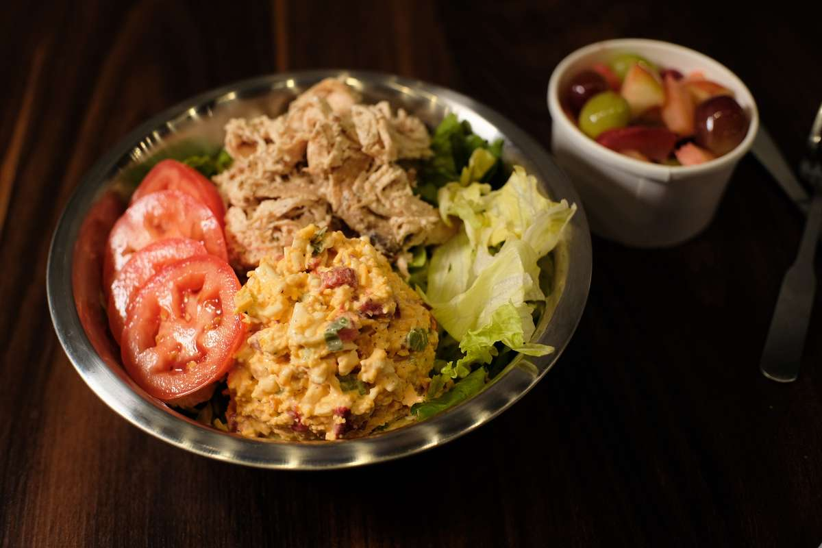 Smoked Chicken Salad or Pimento Please Platter