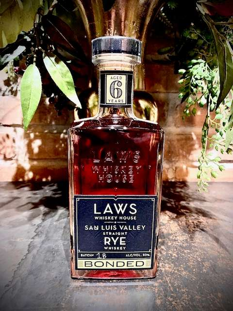 Laws San Luis Valley Straight Rye 6yr Bottled-in-Bond
