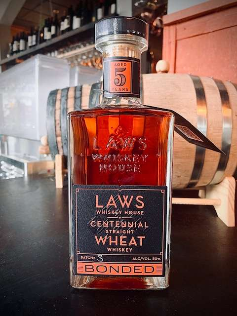 Laws Centennial Straight Wheat Whiskey - Bonded