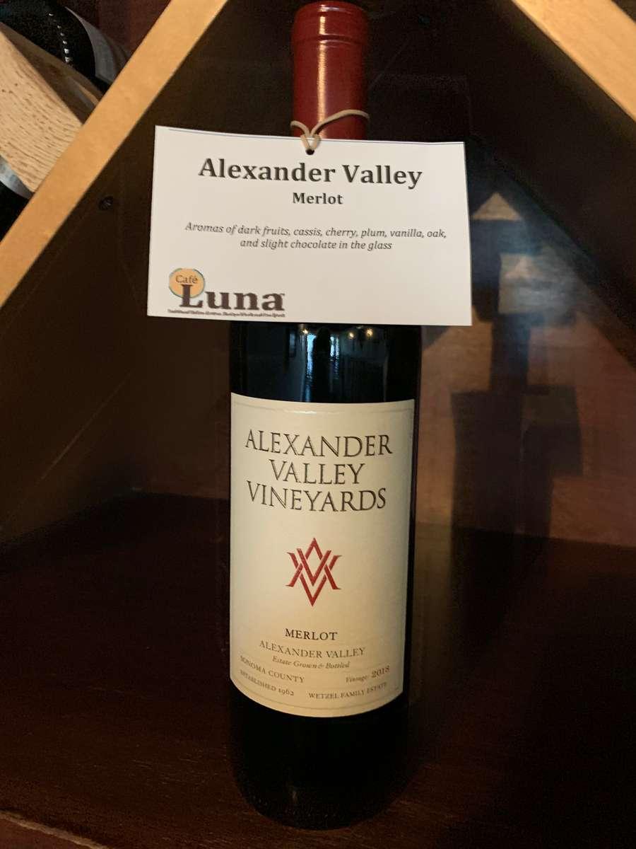 Alexander Valley Vineyards Estate, Merlot