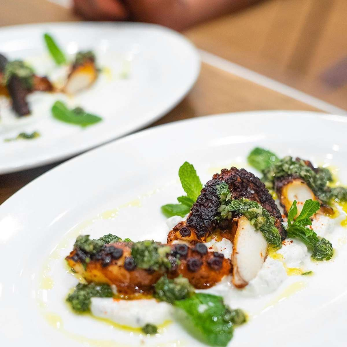 HARISSA GLAZED OCTOPUS