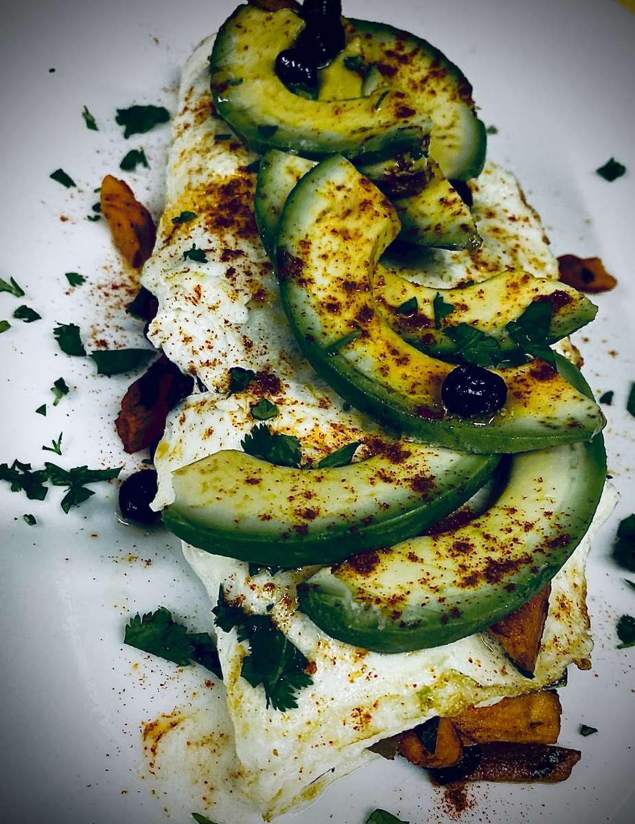 Sweet Potato and egg white omelette